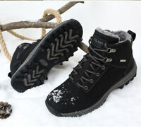 Men's Winter Shoes Snow Boots Cotton Plus velvet Keep Warm Casual High Top Boots