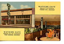 Watkin's Cafe-Forrest City-West Memphis-Arkansas-Vintage Advertising Postcard