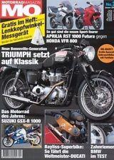 MO0201 + Test TRIUMPH Bonneville TT + YAMAHA TDM 900 + BMW F 650 CS + MO 1/2002