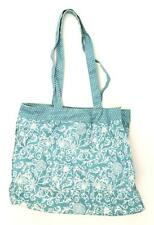 National Trust Floral Blue Cotton Yellow Polka Dot Lining Womens Shoulder Bag