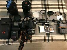 Sony Alpha A300 DSLR Camera Bundle - Barely used