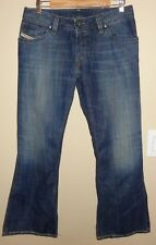 Diesel Button-Fly 100% Cotton Premium Blue Jeans Italian Made Size 31 x 30