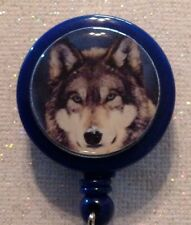 Wolf Badge Reel - Wolf Id - Wolf Lanyard - Wolf - Wolf Id Holder - Wolf Badge