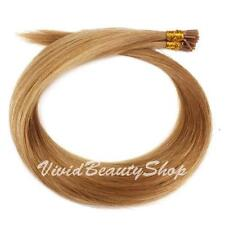 200 Stick I Bond Glue Straight Long Remy Human Hair Extension Dark Blonde #12