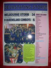 Melbourne Storm 34 N Q COW-BOYS 6 - 2017 NRL grand final-Souvenir d'impression