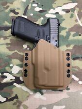 Coyote Tan Kydex Light Bearing Holster Glock 19/23/32 Inforce APLc