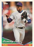 Sammy Sosa 1994 Topps #725 Chicago Cubs Baseball card