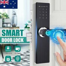 4IN1 Smart Electronic Door Lock Fingerprint Password Security Touch Screen Hotel