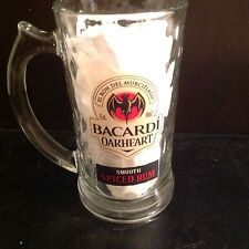 Bacardi Oakheart Glass Tankard Stein with handle