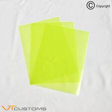 3 x A4 FEUILLES fluorescent jaune phare film pour feux de brouillard Teinte Voiture Vinyle