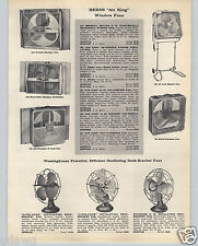 1959 PAPER AD Westinghouse Livelyaire Electric Fan Berns Air King