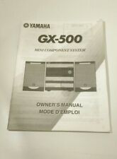 Original Yamaha GX-500 Component System Owners Manual