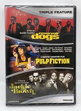 New listing Reservoir Dogs Pulp Fiction Jackie Brown Dvd Quentin Tarantino Triple Feat - New