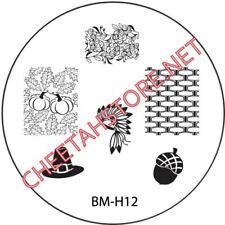Stamping plaque Bundle Monster BMH12 pour vernis ongles