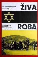 LEBENDE WARE WW2 JEWISH HOLOCAUST 1966 JUDAICA RARE EXYU MOVIE POSTER