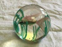 Beautiful Original Murano Fish Aquarium Art Glass Paperweight by Fratelli Toso!