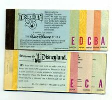 (2) Vintage DISNEYLAND Amusement Park Ride TICKET COUPON BOOKLETS