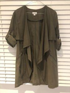 Witchery khaki Jacket Size:8