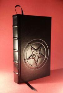 Leather Bound -THE SATANIC BIBLE by ANTON LAVEY- Church of Satan BAPHOMET