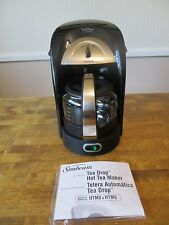 Sunbeam Tea Drop Hot Tea Maker Model HTM5 Black & Silver 28 Oz MINT