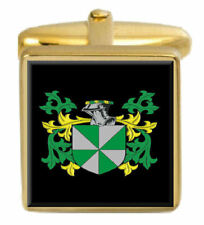 Lampet England Family Crest Surname Coat Of Arms Gold Cufflinks Engraved Box