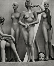 1950s Vintage Female Nude Surreal Fashion Mannequin Photo Litho Art Zoltan Glass