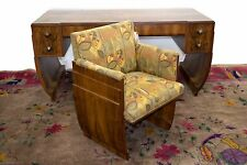 7863 Art Deco Louis Majorelle Palisander Desk and Chair