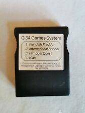 Commodore 64 / C64 Games System Cartridge ~ Fiendish Freddy ~ Klax(x4 Games)