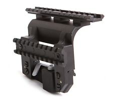 Russian Side Rail to Weaver Mount, Low Profile, Centered, w/ Tactical Rail. LONG