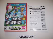 Original Box Case with manual for Nintendo Wii U WiiU New Super Mario Bros. U