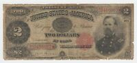 United States $2 Dollar 1891 Treasury Note Fr. 357 US Currency Paper Money Note