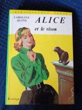 alice et le vison par caroline quine livre bibliotheque verte