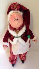 "Katherine's Collection Wayne Kleski 16"" Retired Christmas Santa Chef Doll"