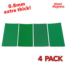 200mm x 100mm Green Coloured Magnetic Labels 0.8mm | 4 Pack | Ref.59143