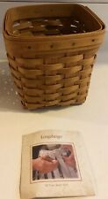 2002 Longaberger Tissue Kleenex Box Basket Signed-