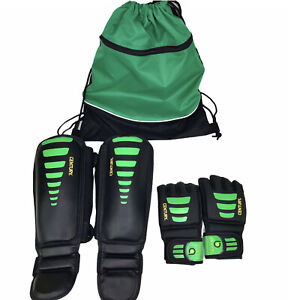 Century Brave Training gear shin instep guards & Palm gloves W/carrying bag L/XL