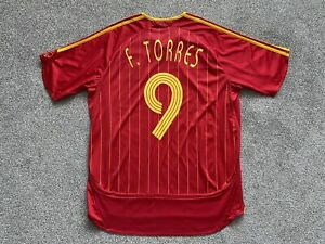 Spain Home Football Shirt Jersey 2006/07 (L) TORRES #9