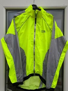 Funkier - Lightweight Waterproof Cycling Jacket Medium Hi-Viz waterproof zips.