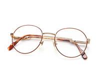 Vintage Hilton Exclusive 025 3 Gold Round Eyeglasses Optical Frame Lunettes 50mm