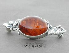 Baltic Amber Brooch 925 silver handmade - BD0119 RRP£32!!!