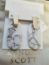 NWT Kendra Scott White Howlite Aragon Earrings . Amazing marbling !!