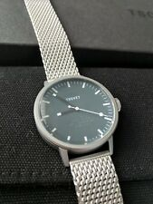 NEW in-box Tsovet SVT-SC 38 Men's Watch Blue w/ Mesh Metal Band Swiss