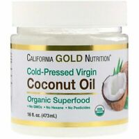 California Gold Nutrition, Cold-Pressed Organic Virgin Coconut Oil, 473ml