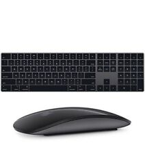 Apple Magic Keyboard 2 with Numpad Space Gray A1843 and Magic Mouse 2 A1657