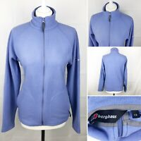 BERGHAUS Full Zip Fleece Top Jacket Size Uk 12 Women's Long Sleeve Top Lilac