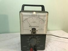 1950s Heathkit Audio VTVM METER lights up Clean