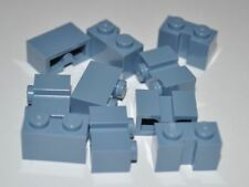 LEGO - 10X SAND BLUE BUILDING BRICKS/BLOCKS 1X2 STUDS WITH GROOVE/MODIFIED 4216