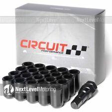 Circuit Performance Black Tuner Steel Lug Nuts 12x1.5 Fits Acura Honda Civic