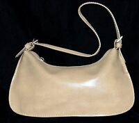 Steve Madden Beige Faux Leather with Decorative Buckles Small Shoulder Bag