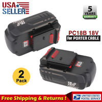2x Upgraded Replace for PC18B Porter Cable 18V Ni-Cd Battery PCC489N PCMVC PC188